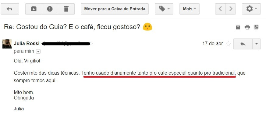 Testemunho Guia Como Fazer Café Coado